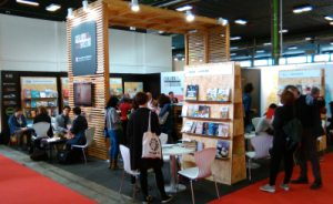 L'estand de l'Associació a la Fira del Llibre de Bolonya del 2016