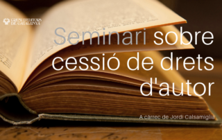 Seminari sobre cessió de drets d'autor