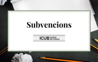 Subvenció ICUB